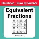 Christmas Math: Equivalent Fractions - Math & Art - Draw b
