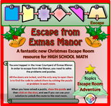 Christmas Math Escape Room High