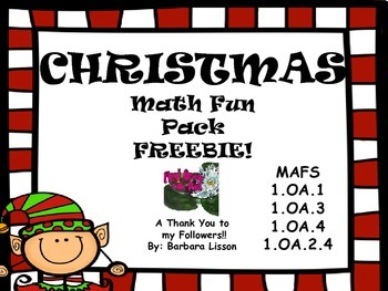 Christmas Math FREEBIE! NO PREP FUN-TIVITIES