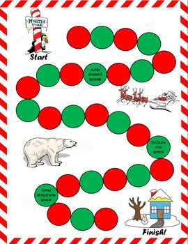 Christmas Math Facts Board Game