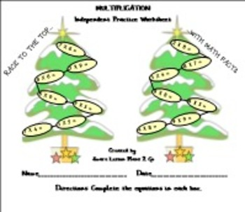 Christmas Math Facts-Race to the Top-PDF