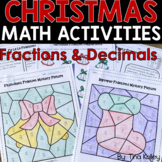 Christmas Math Fifth Grade - Fractions and Decimals