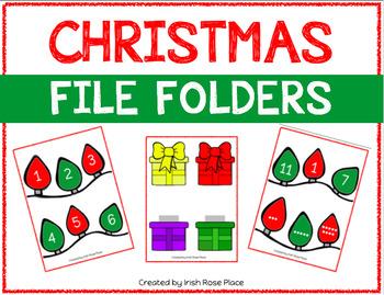 Christmas Math File Folders