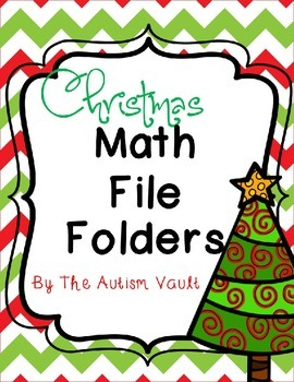 Christmas Math File Folders Games for Autism/Early Childhood
