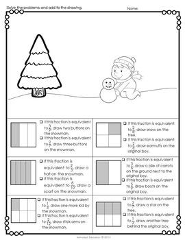 Winter Math Fractions