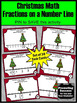3rd Grade Christmas Math Activities, Fractions on a Number Line Task Cards
