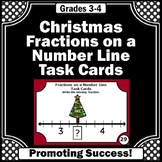 Christmas Math Activities, Fractions on a Number Line Task