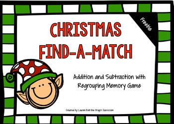 Christmas Math Freebie:Find-A-Match {Aligned to The Common Core Standards}