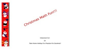 Christmas Math Fun