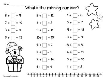 Christmas Math Fun  NO PREP!
