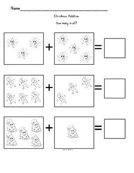 Christmas Math Fun Packet