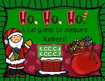 Christmas Math Game - Comparing Numbers