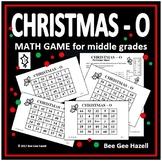 Christmas Math Game for Middle Grades (CHRISTMAS-O)