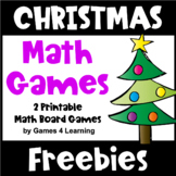 Free Christmas Math Games: Christmas Math Activities