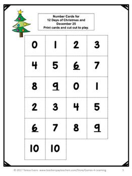 Free Christmas Math Games: Christmas Math Activities