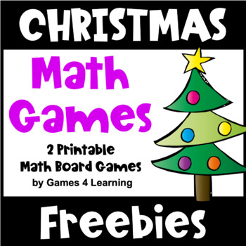 Free Christmas Math Activities - Printable Games