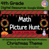Christmas Math Games - 4th Grade Word Problems - All Operations & Multi-Steps