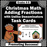 4th Grade Christmas Math Activities & Games with Christmas Fractions Task Cards