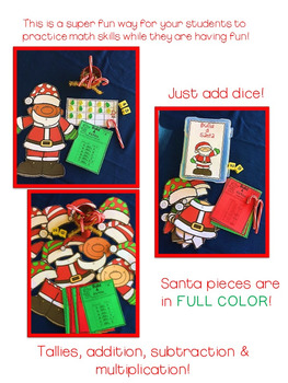 Christmas Math Games Build A Santa