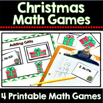 Christmas Math Games Bundle: 4 Standards Based Math Games