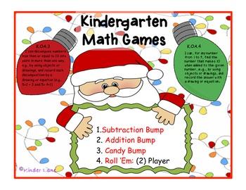 Christmas Math Games Common Core