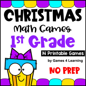 photograph regarding Printable Math Games for 1st Grade named Xmas Math Video games Initially Quality through Video games 4 Mastering TpT