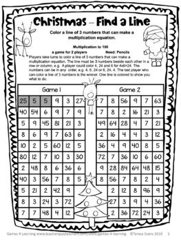 Christmas Free: Christmas Math Games No Prep: Christmas Math Activities