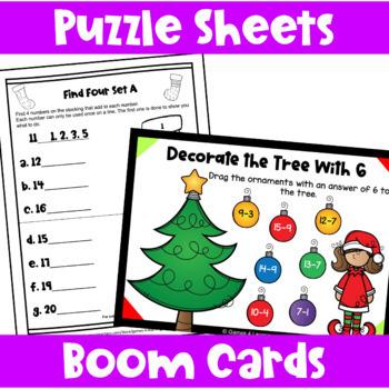 Christmas Activities: Christmas Math Games and More for Christmas Math Centers