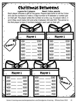 Christmas Activities: Christmas Math Games 2nd Grade: Christmas Math Activities
