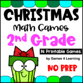 NO PREP Christmas Math Games for Second Grade with Reindeer, Elves, Gifts & More
