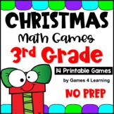 Christmas Math Games for Third Grade NO PREP Activities with Reindeer, Santa etc