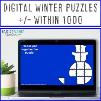 Snowman Math Games | Winter Math Games | Adding and Subtracting within 1000