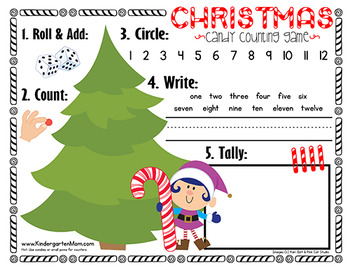 Christmas Math Games & Worksheets for Kindergarten