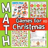 Christmas Math Games & Worksheets for Kindergarten
