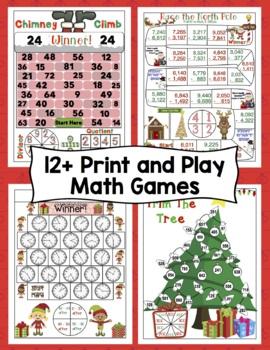 Christmas Math Games - 3rd Grade