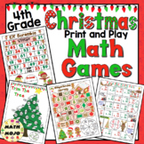 4th Grade Christmas Math Games - 4th Grade Christmas Math Activities
