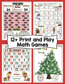 4th Grade Christmas Activities: Christmas Math Games and Centers