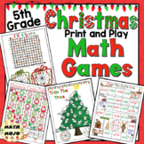 Christmas Math Games - 5th Grade
