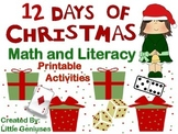 Christmas Math Games and Literacy Fun