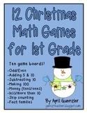 Christmas Math Games for 1st Grade