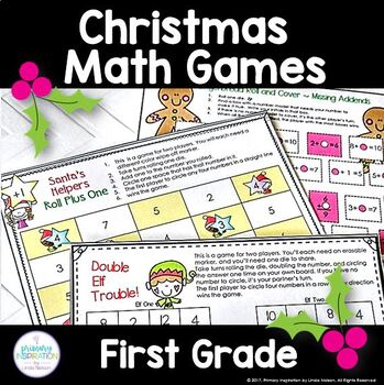 Christmas Math Games for First Grade