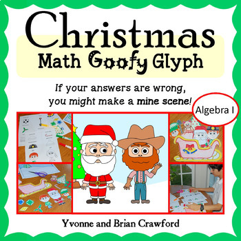 Christmas Math Goofy Glyph (Algebra Common Core)
