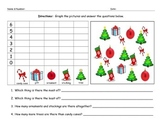 Christmas Math Graphing Morning Work Worksheet Homework