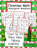 Christmas Math, Graphing, Place Value, Count by 10s, Tally Marks