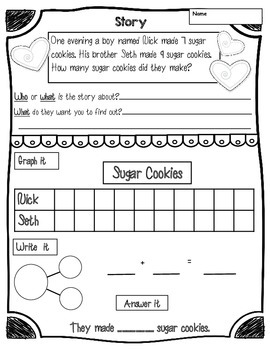 Christmas Math {Graphing, Word Problems, Equal Shares K-2}