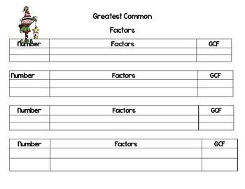 Christmas Math-Greatest Common Factor Task Cards-Elves