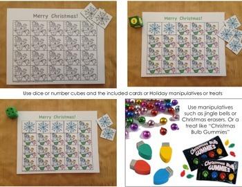 Christmas Math Grid Game