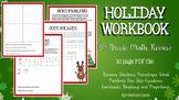 Christmas Math Holiday Workbook Middle School Math