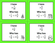 Christmas Math: I Have, Who Has - Adding Mixed Fractions