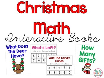 Christmas Math Interactive Books